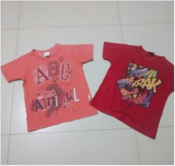 duo camisetas 4 - 4 anos - Zig Zig Zaa e Batman