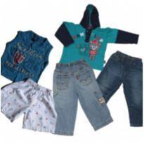 lote menino 05 peças short e calças jeans - 1 ano - Levi`s e Toing Kids