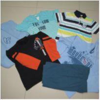 lote 06 roupas de 12 a 14 anos menino