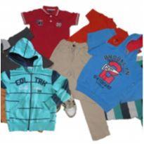 lote 12 roupas tamanho 6 anos menino, jaqueta, blusa calça sarja