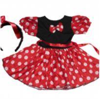 vestido minie, fantasia minie mais tiara - 2 anos - Disney