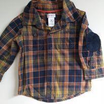 Camisa xadrez Carter`s - 6 a 9 meses - Carter`s