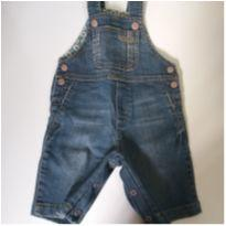 Jardineira jeans Green - 0 a 3 meses - Green