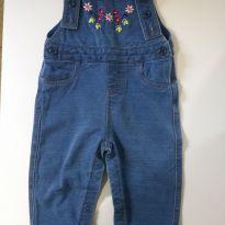 Jardineira Flores - 6 a 9 meses - Baby Way