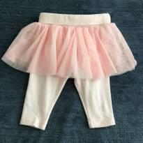 Calça legging com tutu - 0 a 3 meses - Early  Days
