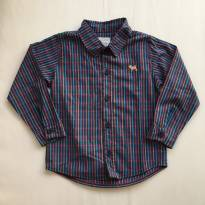Camisa xadrez azul marinho - 2 anos - Charpey