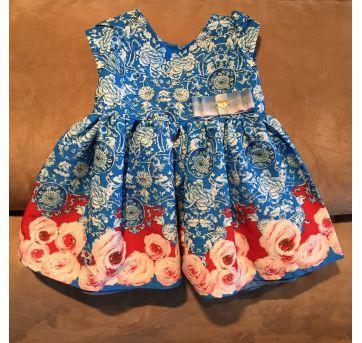Vestido de festa Floral - 6 a 9 meses - 1+1