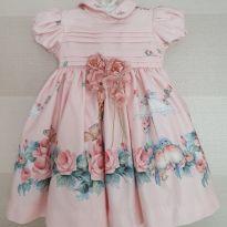 Vestido de Festa Jardim - 9 a 12 meses - Mio Bebê