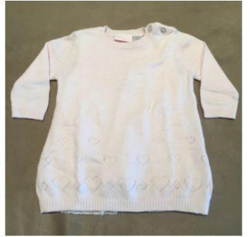 Vestido duplo Malha/Tricô - 3 a 6 meses - Chicco
