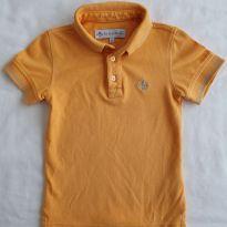 Camisa Polo Mostarda - 2 anos - Dudalina