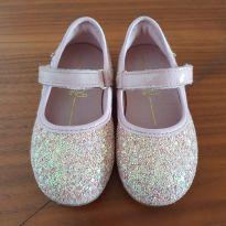Sapatilha Glitter Rosa - 22 - Bibi