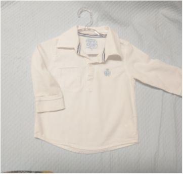 Linda Camisa Branca! - 9 a 12 meses - Puramania
