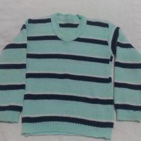 Suéter de la listrado - 3 anos - Artesanal