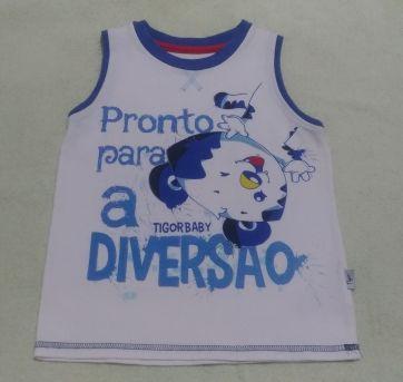 Camiseta Regata Tigor - 2 anos - Tigor T.  Tigre e Tigor Baby