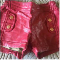 Short couro Infanti - 1 ano - Infanti