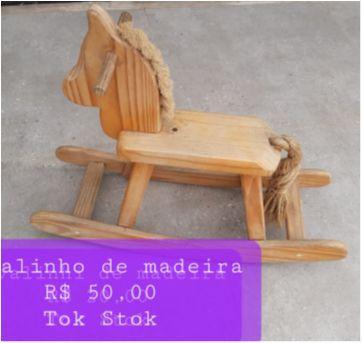Cavalinho de madeira - Sem faixa etaria - Tok Stok