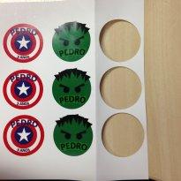 Tags Personalizadas para Festinha Avengers -  - Pepopo