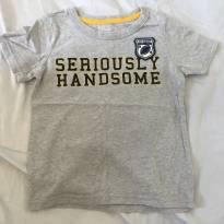 Camiseta Seriously Handsome Tam. 4T - 3 anos - Carter`s