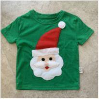 Camiseta de papai noel - 3 anos - Artesanal