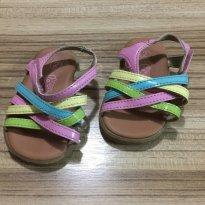 Sandália com tiras coloridas - 15 - Teeny Toes