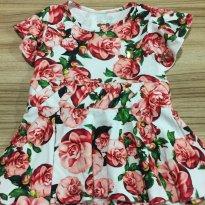 Vestido Florido - 3 a 6 meses - Bebêtenkitê