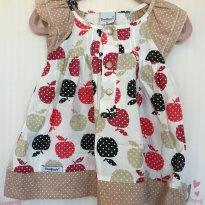 Vestido de Maças - 9 a 12 meses - Travessu
