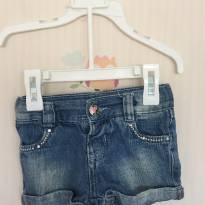 Short jeans / bermuda - 6 a 9 meses - Não informada