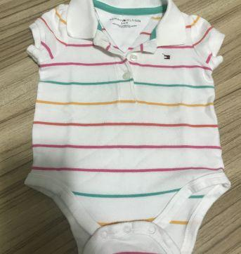 Camisa Polo Tommy Hilfiger - 3 a 6 meses - Tommy Hilfiger