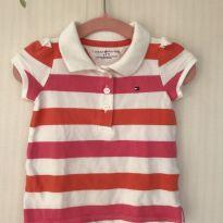 Camisa polo Tommy Hilfiger - 6 a 9 meses - Tommy Hilfiger