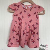Vestido de Flamingos - 3 a 6 meses - Hering Kids