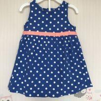 Vestido Azul Marinho de Poá - 9 meses - Carter`s