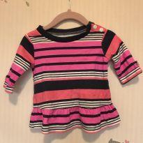 Blusa colorida estilo bata - 3 a 6 meses - Carter`s
