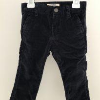 Calça azul de veludo - 9 a 12 meses - OshKosh