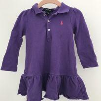 Vestido Roxo Polo Ralph Lauren - 9 a 12 meses - Ralph Lauren