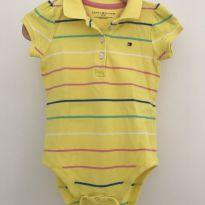 Body Camiseta Polo Tommy Hilfiger - 9 a 12 meses - Tommy Hilfiger