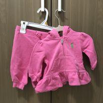 Conjunto moletom rosa Ralph Lauren - 0 a 3 meses - Ralph Lauren