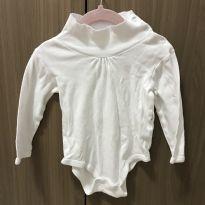 Body blusa gola alta branco - 12 a 18 meses - Teddy Boom