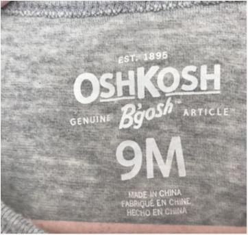 Camiseta / Blusa Dog com laços - 6 a 9 meses - OshKosh