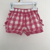 Short xadrez rosa e branco - 9 a 12 meses - The Children`s Place