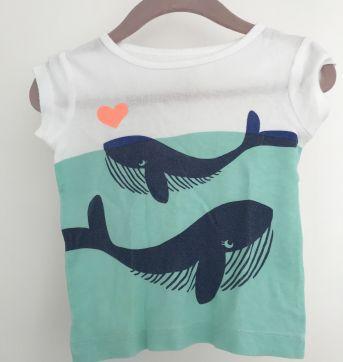 Camiseta / Blusa de Baleias - 3 a 6 meses - Carter`s