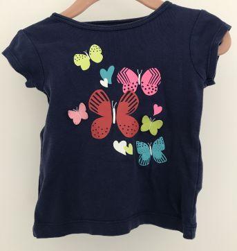 Camiseta Blusa Borboletinhas - 6 a 9 meses - Carter`s