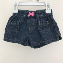 Short Jeans - 6 a 9 meses - Carter`s