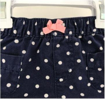 Short azul com bolinhas - 3 a 6 meses - Carter`s