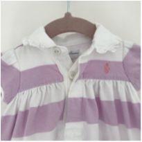 Vestido lilás listrado Ralph Lauren - 0 a 3 meses - Ralph Lauren