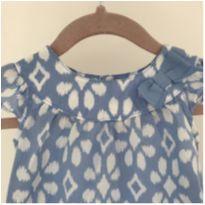 Macaquinho azul geométrico - 9 a 12 meses - Carter`s