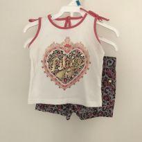 Conjunto Short e camisa Regata Lilica Ripilica - 6 a 9 meses - Lilica Ripilica