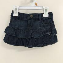 Saia jeans com babados Baby Gap - 12 a 18 meses - Baby Gap