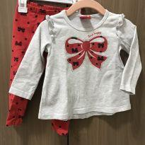 Conjuntinho blusa e calça Laços vermelhos - 1 ano - Kyly