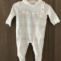 Macacão de linha branco - Recém Nascido - Noruega Baby