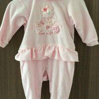 Macacão rosa linda Ursinha - 0 a 3 meses - Anjos baby